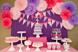 Girls Party Ideas Purple