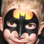 Batman Face Painting