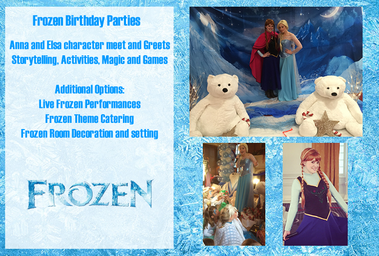 frozen theme birthday party london