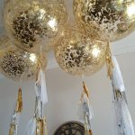 gold confetti balloon decoration london