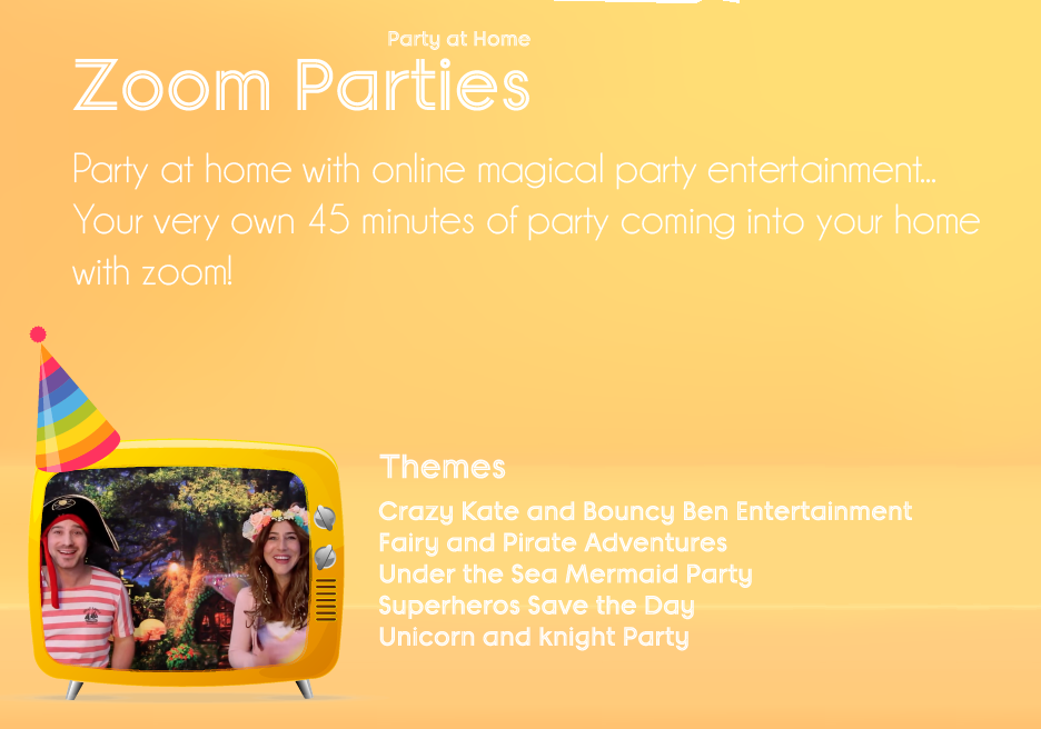 online party entertainer with zoom